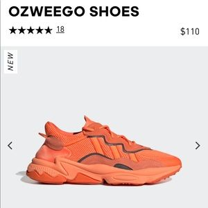 Adidas OZWEEGO Orange Sz 8 Men's